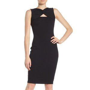 Bailey 44 Duma Ponte Twist Cutout Midi Dress